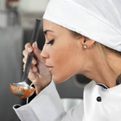A Chef Tasting Her Food
