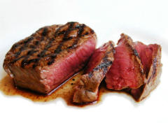 A cut grilled juicy steak