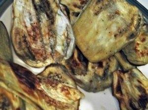 Cooked eggplant slices