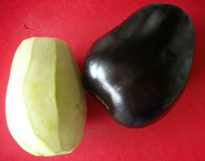 Eggplant, peeled and regular