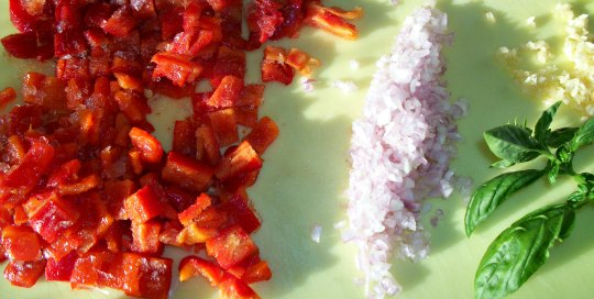 Roasted Red Pepper Coulis Ingredients