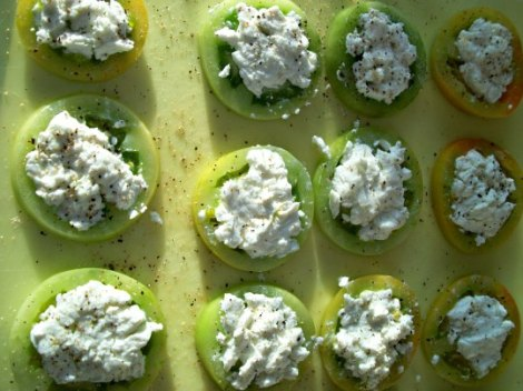Uncooked Fried Green Tomatoes