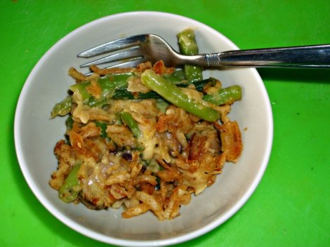 Serving of Greenbean Casserole