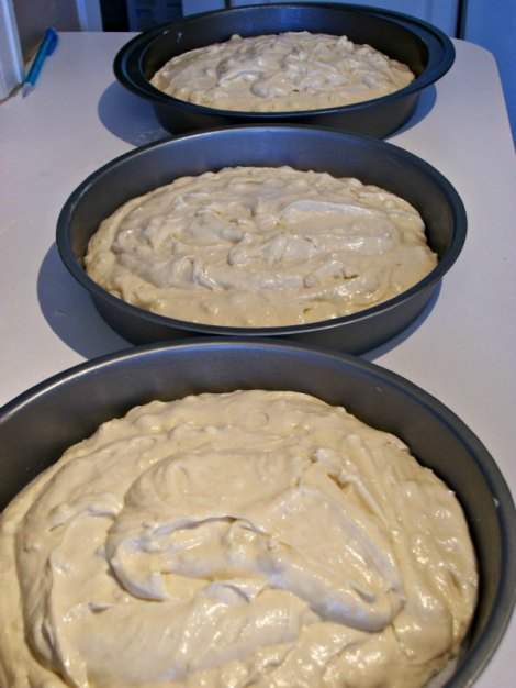 Cakes ready for the Oven