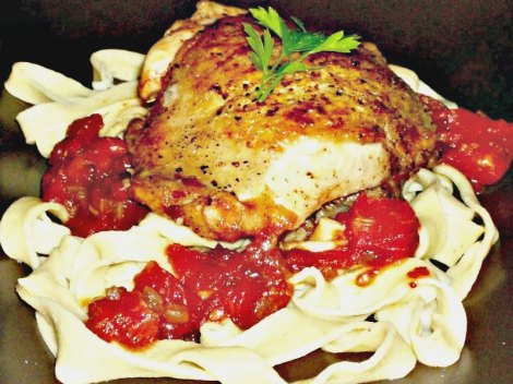 Chicken Cacciatore with Noodles