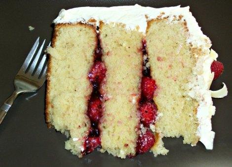 Macadamia Cake with Raspberries and White Chocolate Buttercream ...