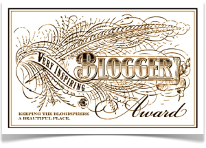Very Inspired Blogger Award