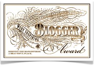 Very Inspired Blogger Award