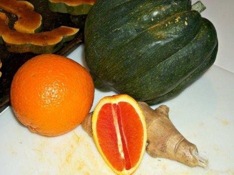 Ginger Glazed Acorn Squash Ingredients