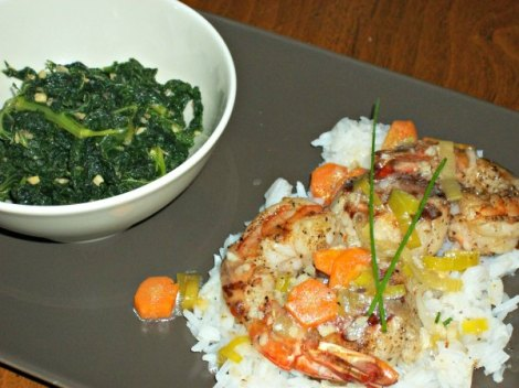 Shrimp and Scallops with Kale Dinner
