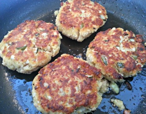 Golden Brown Salmon Patties