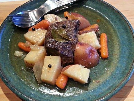 Pot roast on a plate