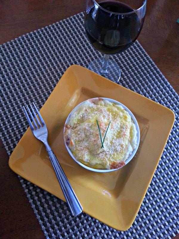 Sheppard's Pie with Wine Glass