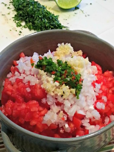 Mixing the Chopped ingredients
