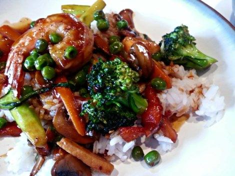 Quick Teriyaki Stir Fry over Rice