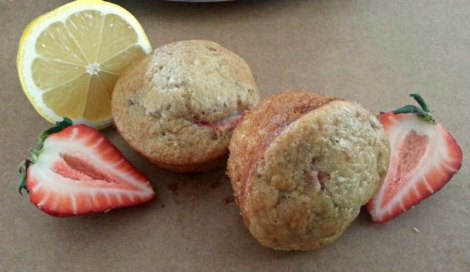 Strawberry Lemon Muffins with Strawberry and Lemon
