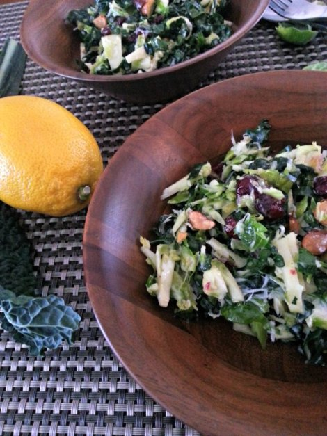 Brussel Sprout and Kale Salad
