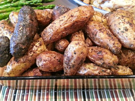 Close up of Roasted Fingerlings