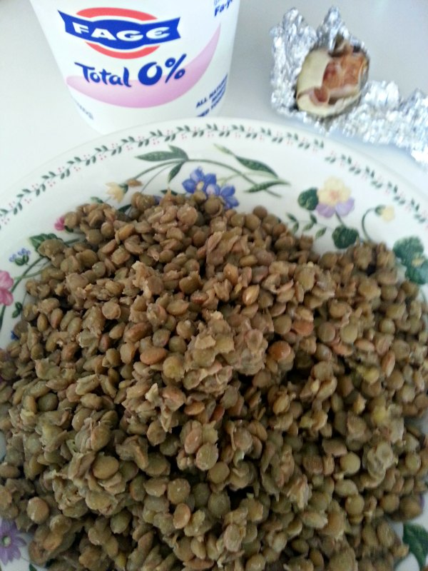 Green Lentils and Yogurt Ingredients