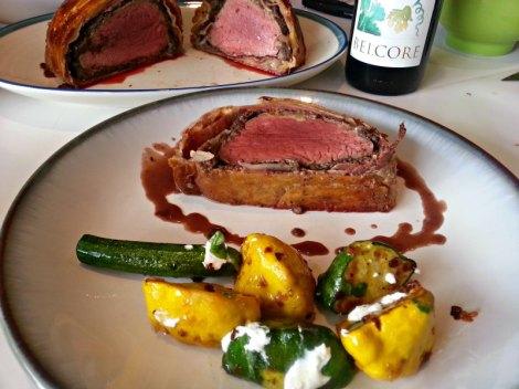 Served Beef Wellington