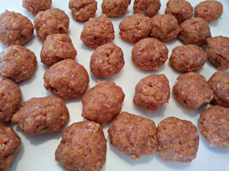 Raw Buffalo Wing Meatballs