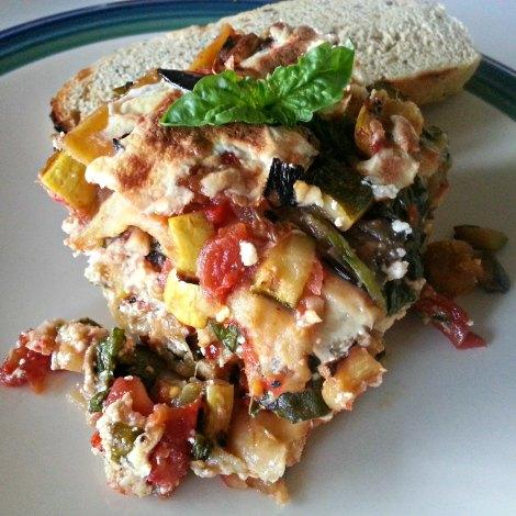 Portion of Grilled Veggie Lasagna