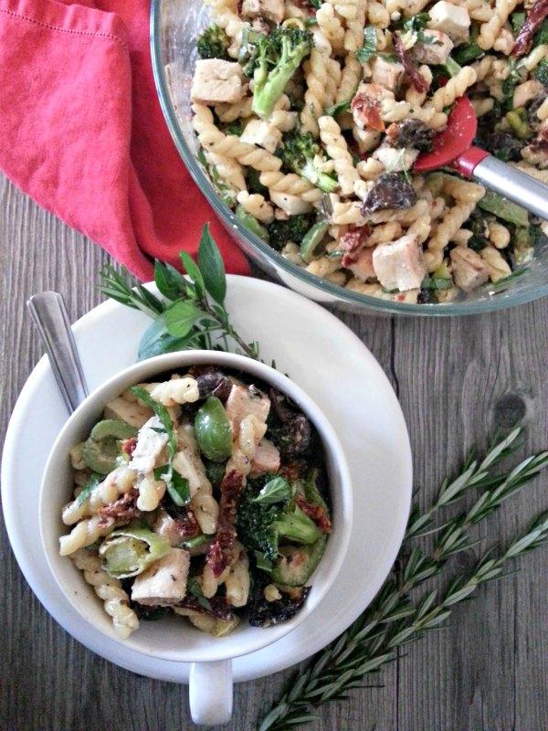 Bowl of Grilled Pasta Salad