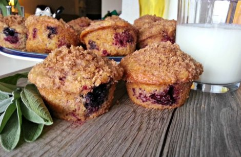 Twin Triple Berry Muffins