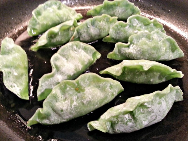Cooking the Potstickers