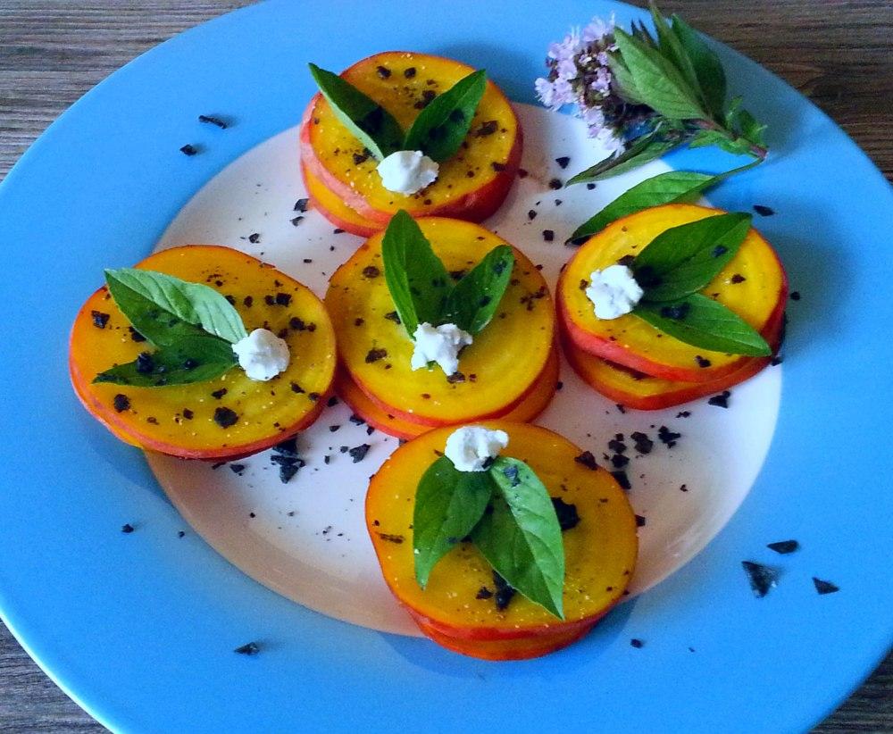 Plate of Golden Beet Salads