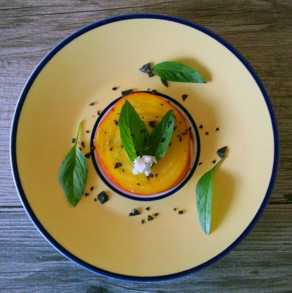 Plated Golden Beet Salad