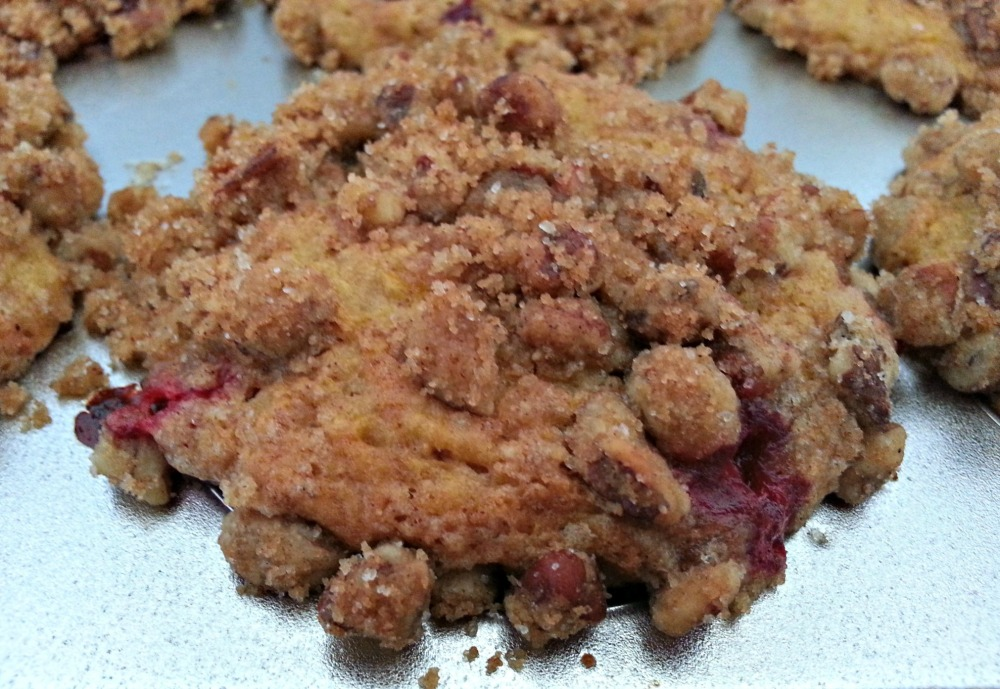 Butternut & Cranberry muffin in the pan