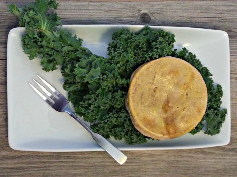 Chicken pot pie with kale