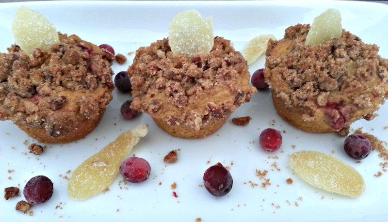 Muffins on white dish