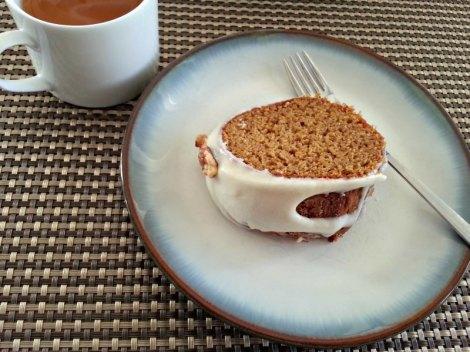 Slice of Pumpkin Gingerbread Cake
