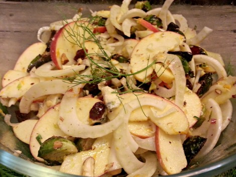 Fennel, Apple & Brussel Sprout Salad
