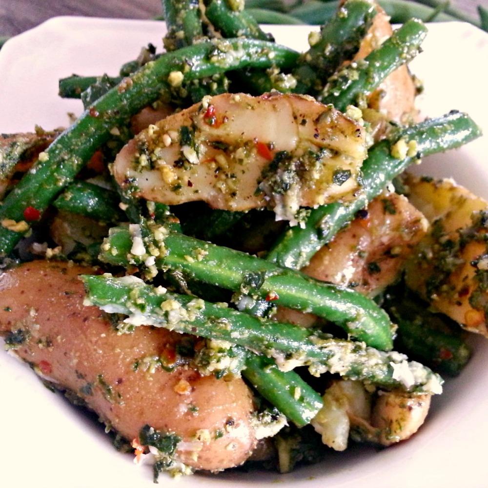 Finglering Potatoes & Green Beans with Pesto 1