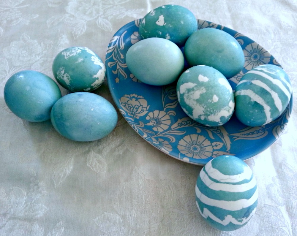 Natural Blue Dyed Easter Eggs