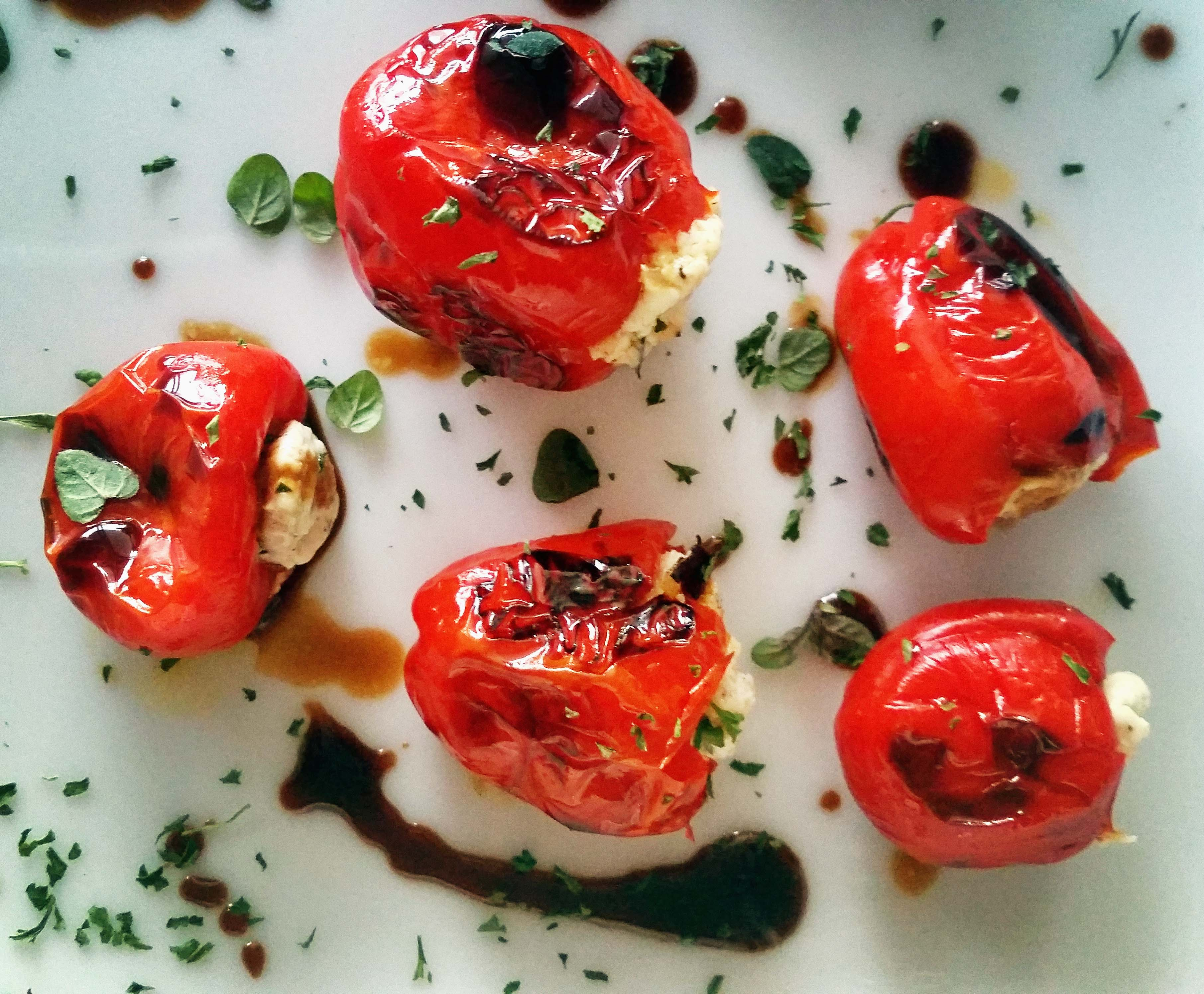 Tapas Recipe-Goat Cheese stuffed Peppadew Peppers | Simply ...