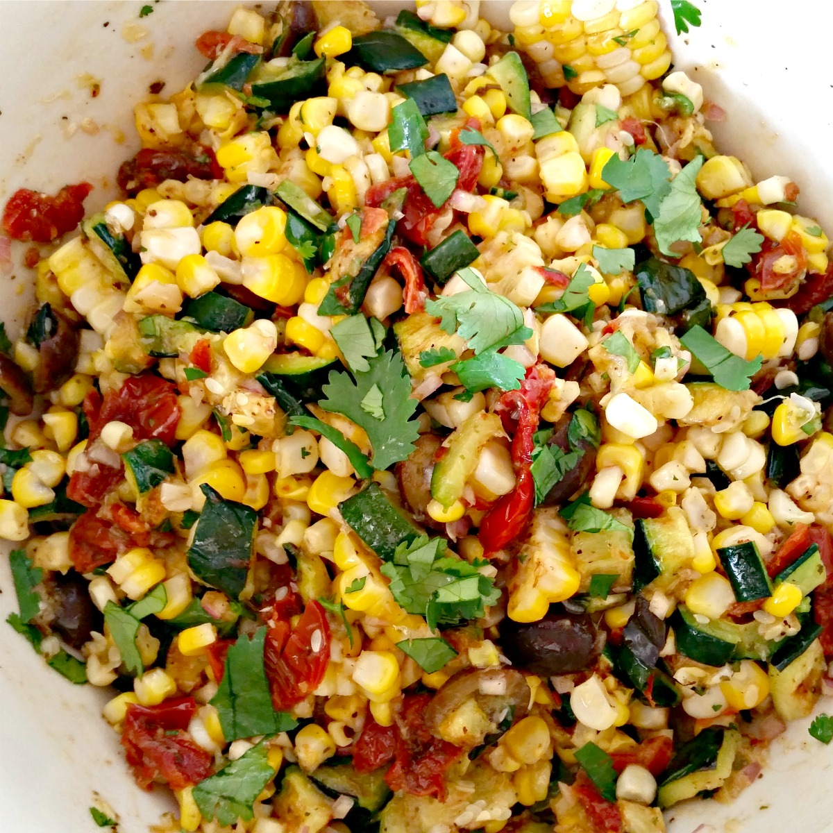 Summer Salad with Zucchini & Corn | Simply Sophisticated Cooking
