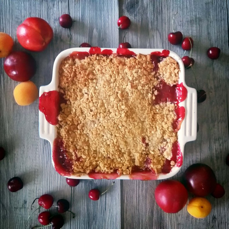 Boozy Stone Fruit Cobbler