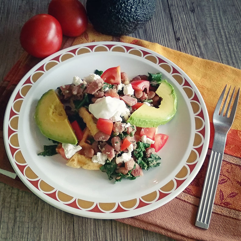 Pinto Beans, Kale and Ham