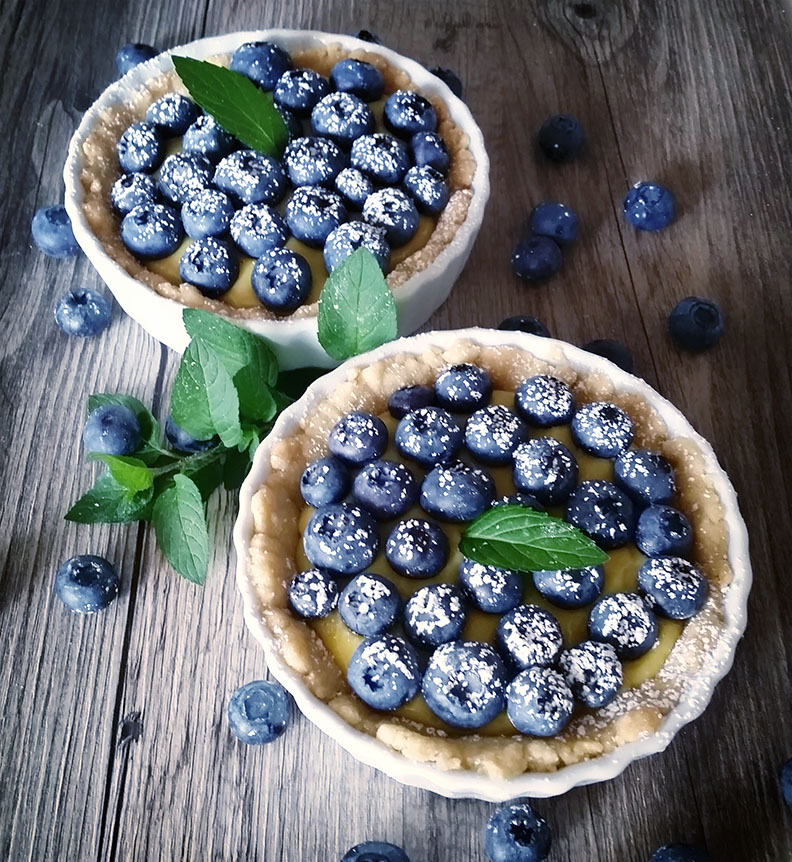 Blueberry Topped Tarts