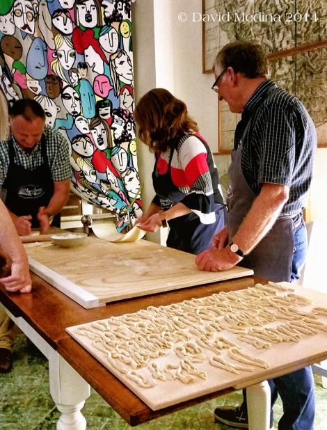 Pici making. Photo courtesy of David Medina.