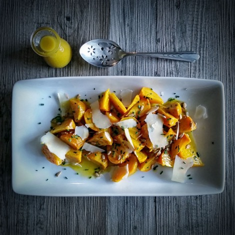 Roasted Golden Beet Salad with Dijon Vinaigrette