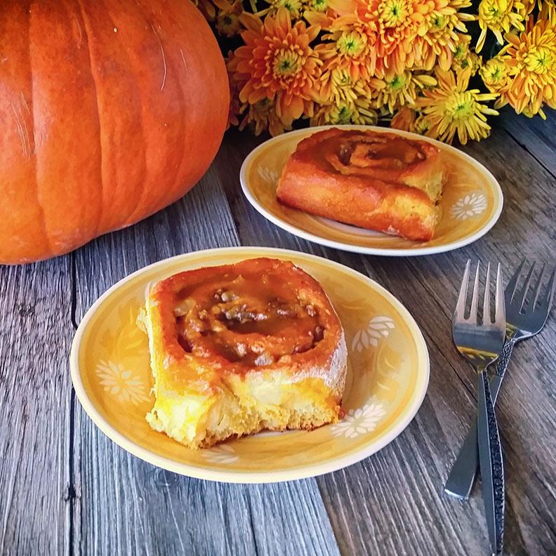 Pumpkin Ginger Cinnamon Rolls