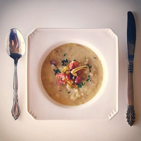Slimmed Down Potato Leek Soup