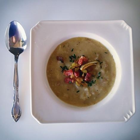 Slimmed Down Potato Leek Soup