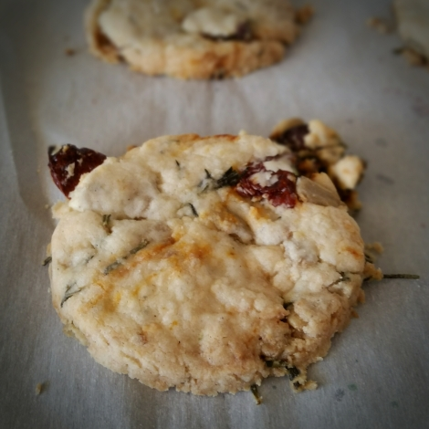 Sun-dried Tomato and Rosemary Shortbread Cookies