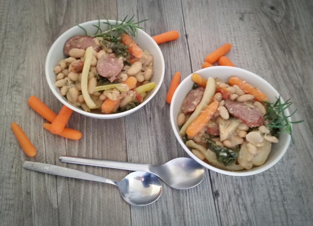 Slow Cooker Sausage and Fennel Cassoulet